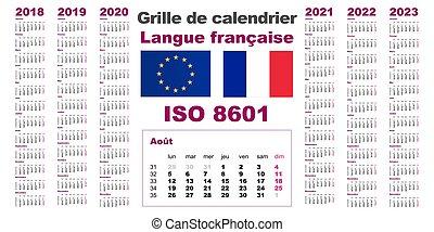 Calendario Con Le Settimane 2020.Set Parete Griglia 2021 2019 2020 Calendario 2018