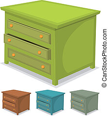 set, groene, kabinet