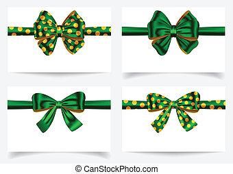 set, groene, lint