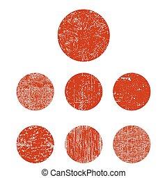 Set grunge circle