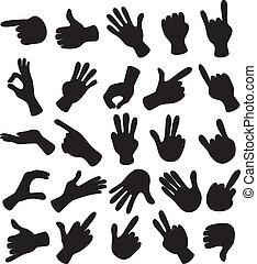 set, hand