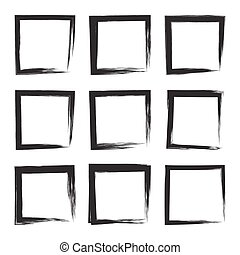 Set hand drawn square.