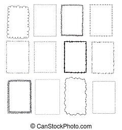 set handdrawn frames