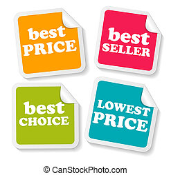 set, handel illustratie, vector, stickers, jouw