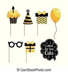 set happy birthday decoration party