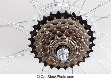 set, het toestel van de fiets