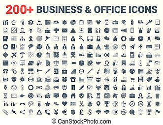 set., hivatal, pénzel, ügy, ikonok