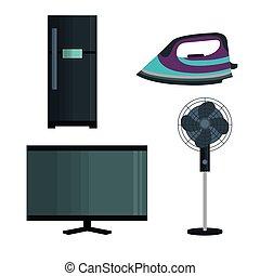 set home appliances icons