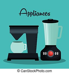 set home appliances icons