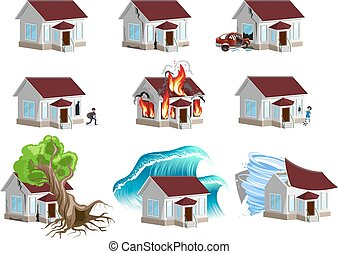 Set homes Disaster. Home insurance