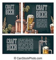 Set horizontal, vertical and square and posters for craft...