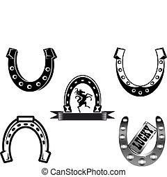 set, horseshoes