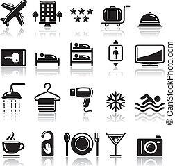 set., hotel, iconos