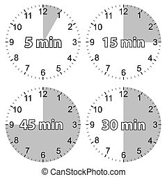 Set hours - A unique set of hours on a white background