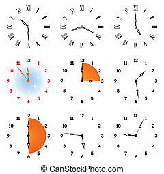 Set hours. - Set of different icons of hours. A whole hours...