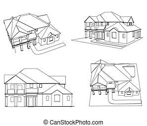 Set house. Vector