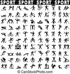 set., icônes sports