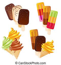 set ice cream - set of vector images of delicious ice cream