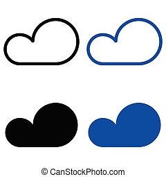 Set icon clouds