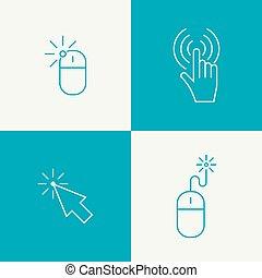 Set icon Computer mouse