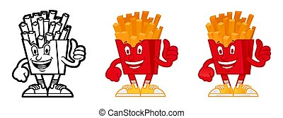 cartoon character American French fries