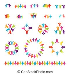 set-icon-people-team - Big vector set of icons - successful...