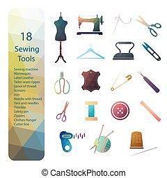 Set icon tailoring equipment