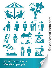 set icon vacation people