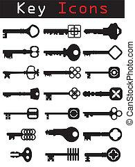 set, icona, chiave