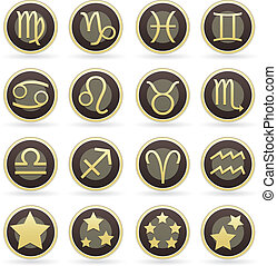 set, icona, simbolo zodiaco