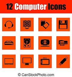 set, icone computer