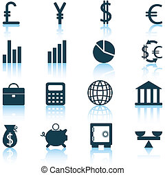 set, icone finanziarie