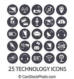 set, icone tecnologia