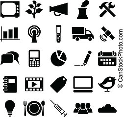 Set icons and symbols.