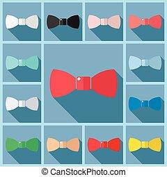 Set icons bow flat