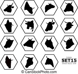 Set icons bull