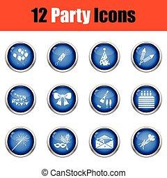 set, icons., celebrazione