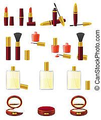 set icons cosmetics vector illustration