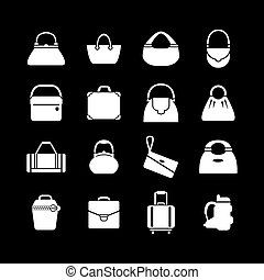 Set icons of bags