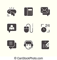 Set icons of contact us