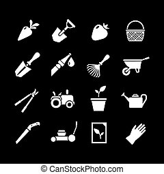Set icons of garden