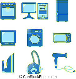 Set icons of home appliances