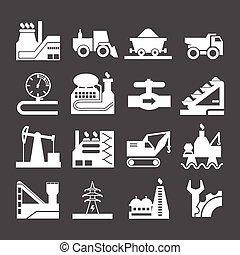 Set icons of industrial