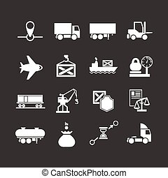 Set icons of logistic