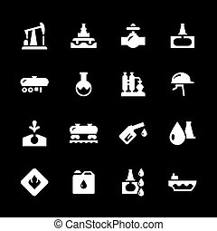 Set icons of oil industry