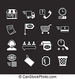 Set icons of shopping and e-commerce