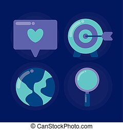 set icons of social media
