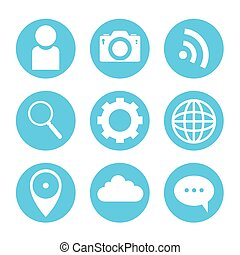 set icons of social media