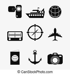set icons of travel design, vector illustration