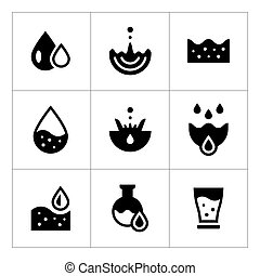 Set icons of water